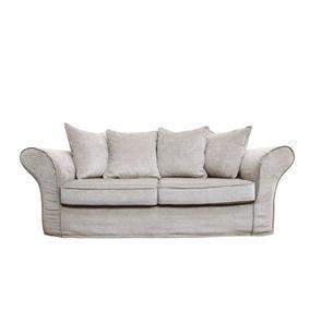 Housse pour canapé 3 places gris en tissu - Melbourne