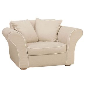 Housse pour fauteuil en tissu beige - Melbourne