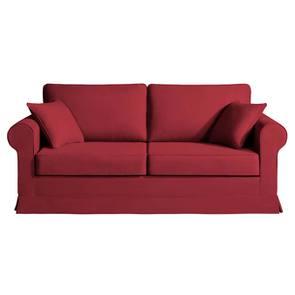 Housse pour canapé convertible 3 places en tissu rouge - Montana