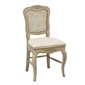 Chaise cannée en pin massif et tissu - Château - Visuel n°2