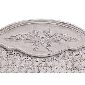 Chaise cannée assise tissu blanc opaline - Château - Visuel n°2
