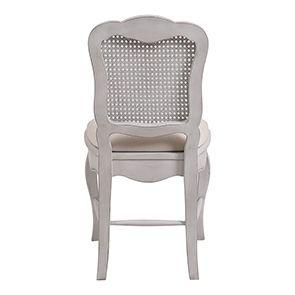Chaise cannée assise tissu blanc opaline - Château - Visuel n°7
