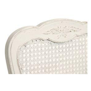 Chaise cannée assise tissu blanc vieilli - Château - Visuel n°7