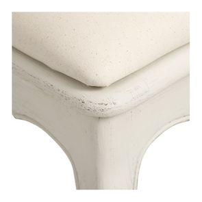Chaise cannée assise tissu blanc vieilli - Château - Visuel n°8