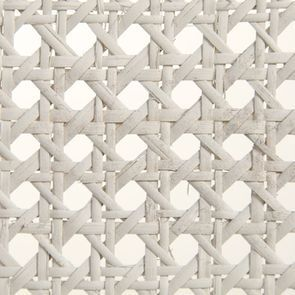 Chaise cannée assise tissu blanc vieilli - Château - Visuel n°9