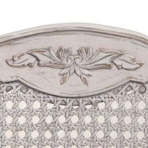 Chaise Jeanne en tissu et pin massif gris argenté - Château - Visuel n°7