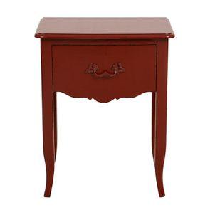 Table de chevet rouge séville 1 tiroir en épicéa