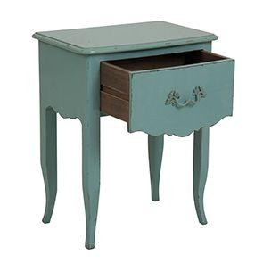 Table de chevet 1 tiroir en épicéa bleu - Visuel n°2