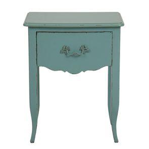 Table de chevet 1 tiroir en épicéa bleu