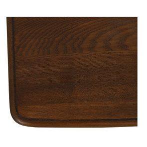 Table de chevet 1 tiroir en épicéa nuage de bleu glossy et plateau frêne - Visuel n°9