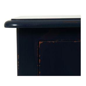Table de chevet bleu indigo 1 tiroir en épicéa - Visuel n°10