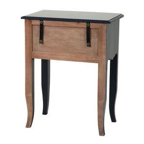 Table de chevet bleu indigo 1 tiroir en épicéa - Visuel n°6