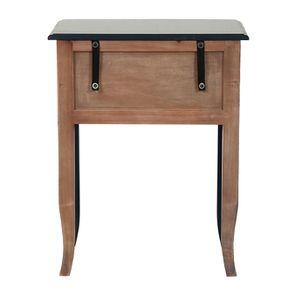 Table de chevet bleu indigo 1 tiroir en épicéa - Visuel n°7