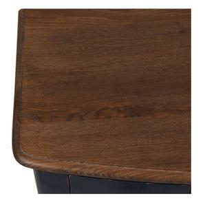Console bleue plateau en bois 3 tiroirs en épicéa - Visuel n°9