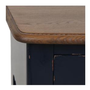 Console bleue plateau en bois 3 tiroirs en épicéa - Visuel n°10