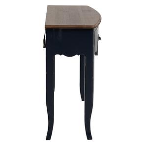 Console bleue plateau en bois 3 tiroirs en épicéa - Visuel n°5