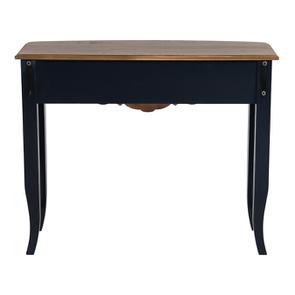 Console bleue plateau en bois 3 tiroirs en épicéa - Visuel n°7