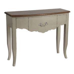 Console grise plateau en bois 3 tiroirs en épicéa - Visuel n°4