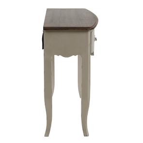Console grise plateau en bois 3 tiroirs en épicéa - Visuel n°5