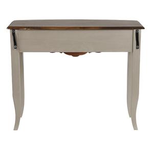 Console grise plateau en bois 3 tiroirs en épicéa - Visuel n°7