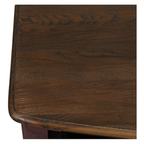 Console lie de vin plateau en bois 3 tiroirs en épicéa - Visuel n°9