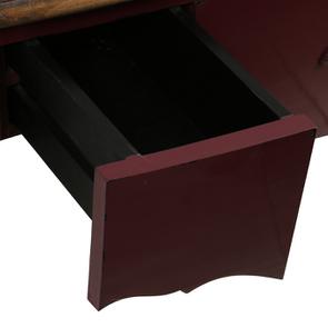 Console lie de vin plateau en bois 3 tiroirs en épicéa - Visuel n°11