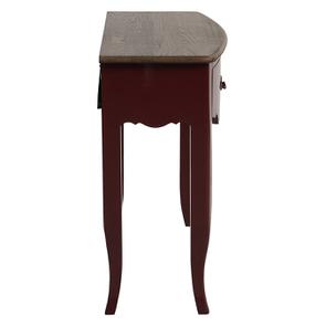 Console lie de vin plateau en bois 3 tiroirs en épicéa - Visuel n°5
