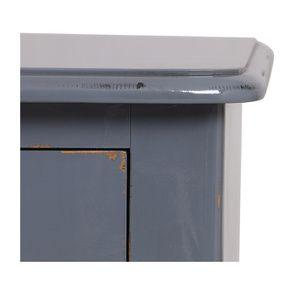 Console gris souris 3 tiroirs en épicéa