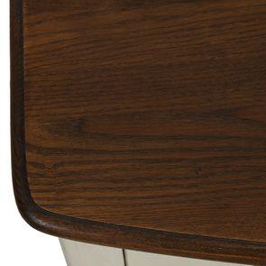 Console grise 3 tiroirs en épicéa - Visuel n°9