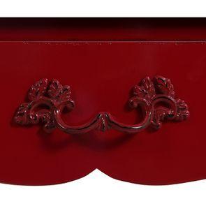 Bureau 1 tiroir en épicéa rouge groseille - Visuel n°11