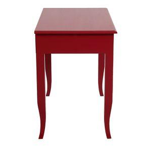 Bureau 1 tiroir en épicéa rouge groseille - Visuel n°5