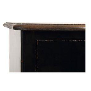 Commode chiffonnier 5 tiroirs noir graphite glossy - Visuel n°9