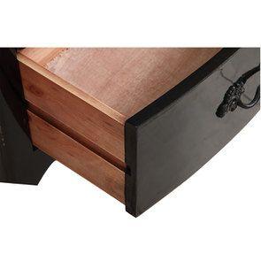 Commode chiffonnier 5 tiroirs noir graphite glossy - Visuel n°10