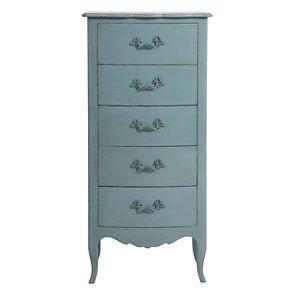 Commode chiffonnier nuage de bleu 5 tiroirs