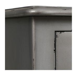 Commode chiffonnier Louis XV 5 tiroirs en pin silver glossy - Visuel n°9
