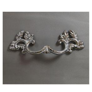Commode chiffonnier Louis XV 5 tiroirs en pin silver glossy - Visuel n°11