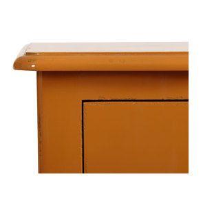 Commode chiffonnier 5 tiroirs jaune safran glossy - Visuel n°9