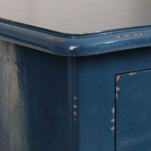 Commode chiffonnier bleu saphir 5 tiroirs - Visuel n°8
