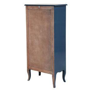 Commode chiffonnier bleu saphir 5 tiroirs - Visuel n°4