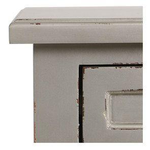 Commode chiffonier gris fumé glossy 6 tiroirs - Visuel n°10