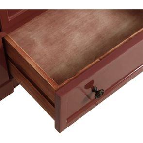 Commode chiffonier vieux rose glossy 6 tiroirs - Visuel n°10