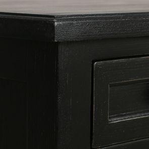 Commode chiffonnier 6 tiroirs noir graphite patiné - Visuel n°9