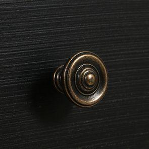 Commode chiffonnier 6 tiroirs noir graphite patiné - Visuel n°11