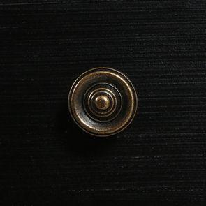 Commode chiffonnier 6 tiroirs noir graphite patiné - Visuel n°12