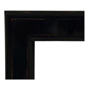 Miroir rectangulaire en bois noir graphite