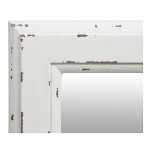 Miroir rectangulaire en bois blanc polaire