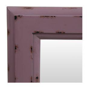 Miroir rectangulaire en bois lilas glossy