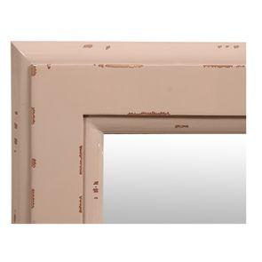 Miroir rectangulaire en bois rose poudré