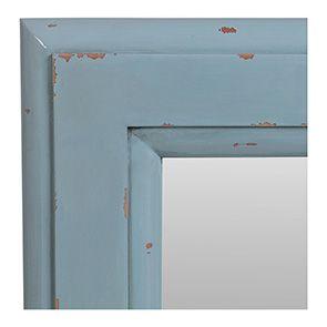 Miroir rectangulaire nuage de bleu glossy