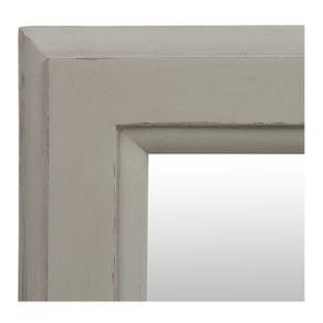 Miroir rectangulaire en bois gris perle patiné